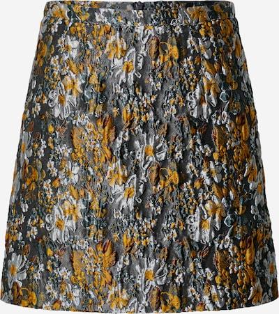 SECOND FEMALE Rok 'Fonda' in de kleur Bruin / Geel / Grijs / Wit, Productweergave