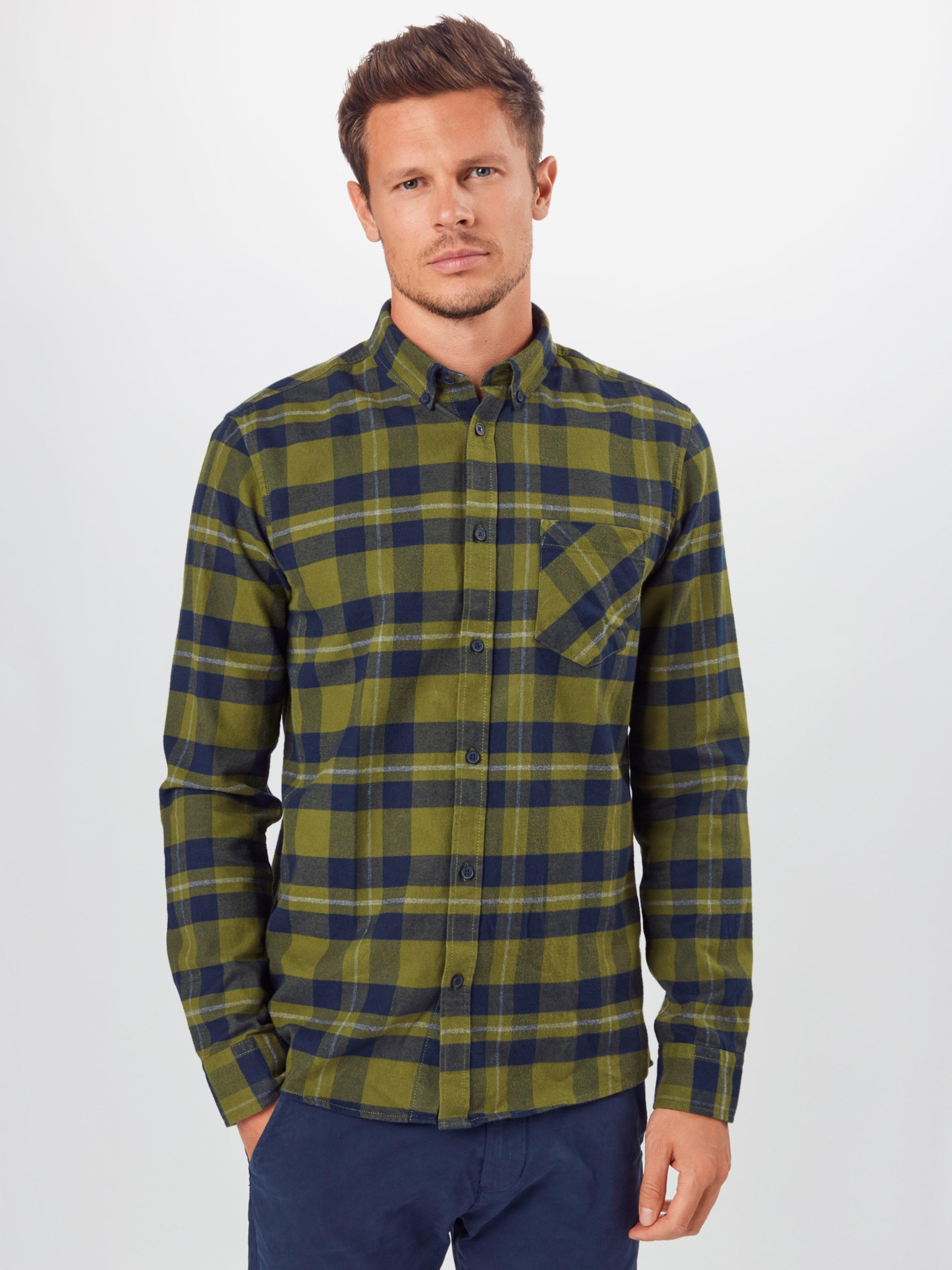 !Solid Hemd in grün Baumwolle SLD0537001000001