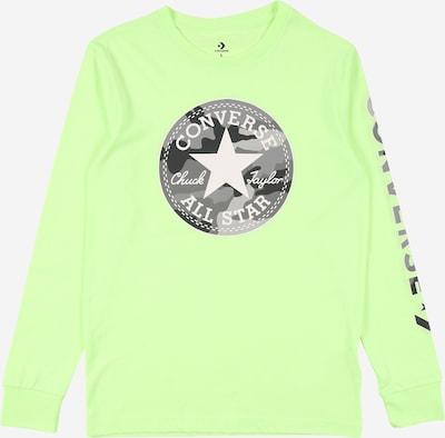 CONVERSE Shirt in de kleur Grijs / Antraciet / Donkergrijs / Lichtgroen / Wit, Productweergave
