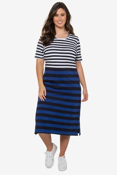 Ulla Popken Jerseykleid in blau / weiß, Modelansicht