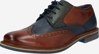 sötétkék / konyak / fenyő bugatti Fűzős cipő 'Basileo', Termék nézet