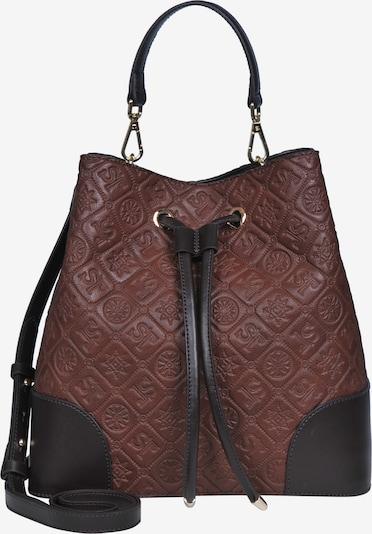 Silvio Tossi Lederhandtasche in dunkelbraun, Produktansicht