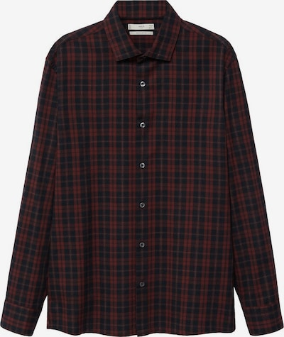 MANGO MAN Hemd 'Cabu' in bordeaux / schwarz / weiß, Produktansicht