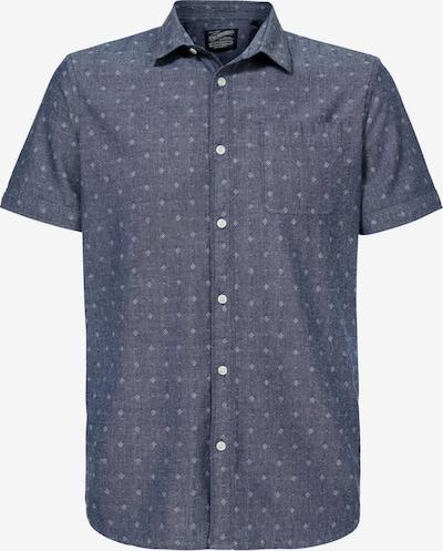 Petrol Industries Kurzarmhemd in blau, Produktansicht