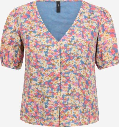 Bluză 'Vinni' Y.A.S Petite pe albastru fumuriu / galben pastel / portocaliu închis / roz deschis / alb, Vizualizare produs