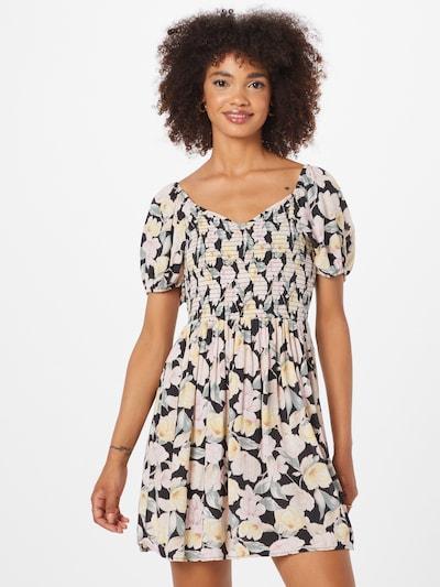 American Eagle Kleid in pastellblau / pastellgelb / puder / schwarz, Modelansicht