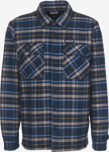 PATAGONIA Overhemd 'Fjord' in de kleur Lichtblauw / Donkerblauw / Lichtbruin / Geel, Productweergave