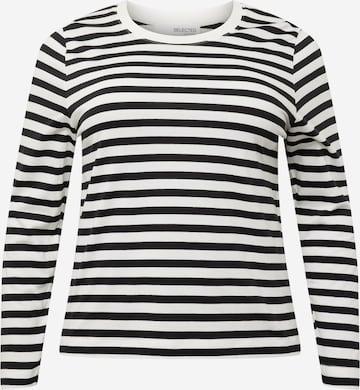 Tricou 'ANDARD' de la Selected Femme Curve pe negru