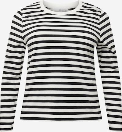 Tricou 'ANDARD' Selected Femme Curve pe negru / alb, Vizualizare produs