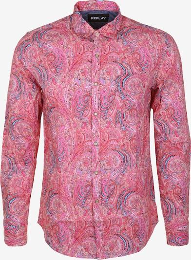 REPLAY Hemd Paisley in pink, Produktansicht