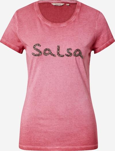 Salsa T-shirt en rouge pastel, Vue avec produit