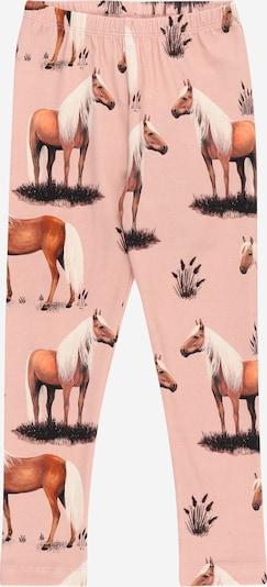 Walkiddy Leggings in de kleur Bruin / Rosa / Zwart / Wit, Productweergave