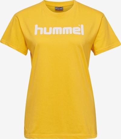 Hummel Functioneel shirt in de kleur Geel / Wit, Productweergave