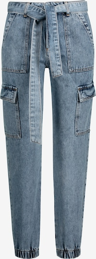 ONE MORE STORY Jeans im Cargo Look in blue denim, Produktansicht