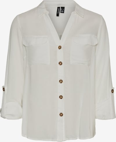 VERO MODA Μπλούζα 'Bumpy' σε φυσικό λευκό, Άποψη προϊόντος