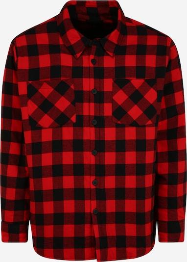 Urban Classics Plus Size Риза в червено / черно, Преглед на продукта