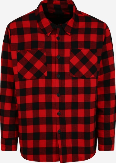 Urban Classics Plus Size Hemd in rot / schwarz, Produktansicht