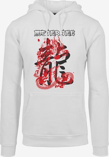 Mister Tee Sweatshirt in rot / schwarz / weiß, Produktansicht
