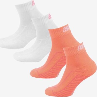 SKECHERS Socken in lachs / rosa / weiß, Produktansicht