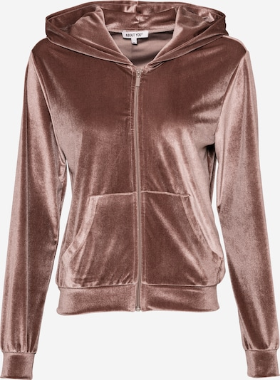 ABOUT YOU Sweat jacket 'Lusan' in Nude / Rose, Item view
