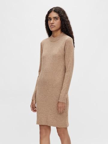 OBJECT Pletené šaty 'THESS' - Hnedá