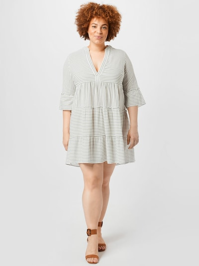 Vero Moda Curve Kleid in schwarz / weiß, Modelansicht
