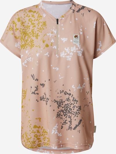 Maloja T-shirt fonctionnel 'Lärchenwickler' en jaune / gris foncé / rose / blanc, Vue avec produit