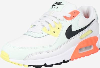 Sportbačiai be auliuko 'Air Max 90' iš Nike Sportswear , spalva - geltona / tamsiai pilka / koralų splava / juoda / balta, Prekių apžvalga
