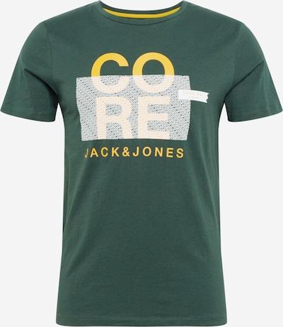 JACK & JONES Shirt 'BOOSTER' in gelb / dunkelgrün / weiß, Produktansicht