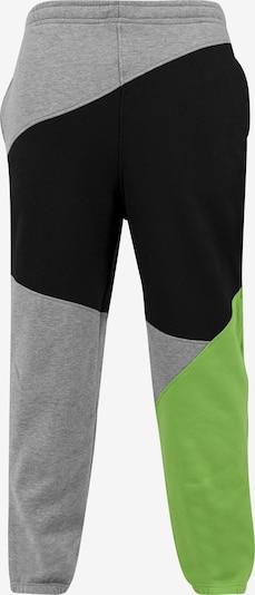 Urban Classics Kalhoty - šedý melír / jablko / černá, Produkt