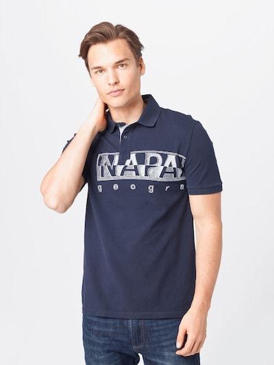 NAPAPIJRI Bluser & t-shirts i marin / hvid: Frontvisning