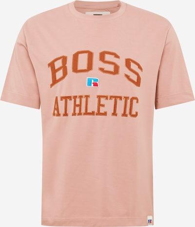 BOSS Casual Тениска 'Russell Athletic' в тюркоазен / тъмно коралово / питая / антично розово, Преглед на продукта