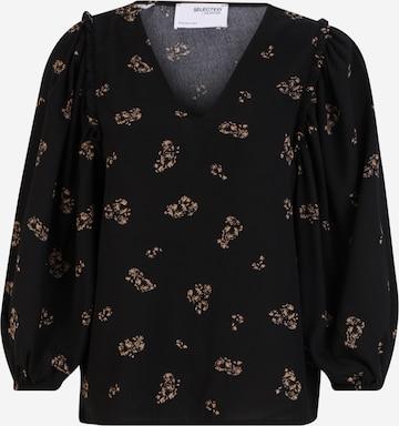Selected Femme Tall Блуза 'MARGUNN' в черно