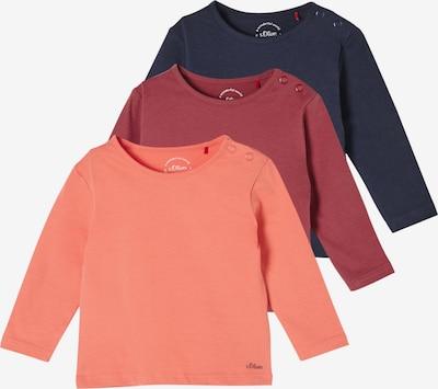 s.Oliver Shirt in dunkelblau / rot / orangerot, Produktansicht