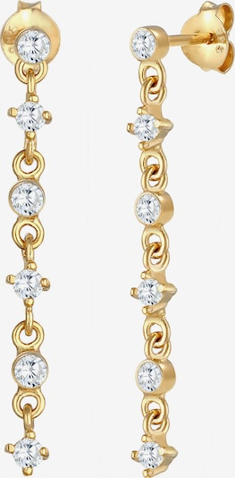 ELLI Ohrringe Ear Chain, Kreis, Solitär-Ohrring in gold, Produktansicht