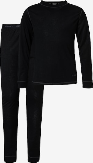 ICEPEAK Sportunterwäsche 'IVESDALE' in schwarz, Produktansicht