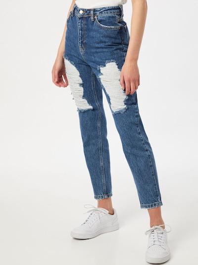 Trendyol Jeans in blau / weiß, Modelansicht