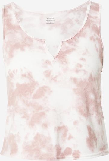 HOLLISTER Slaapshirt in de kleur Oudroze / Wit, Productweergave