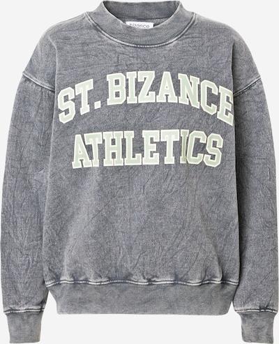 Bizance Paris Sweat-shirt 'ETA' en menthe / noir / blanc, Vue avec produit