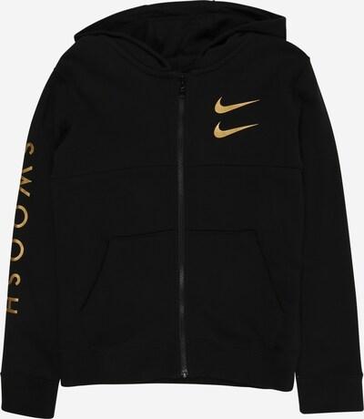 Nike Sportswear Sweatjacke in gold / schwarz, Produktansicht