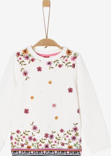 s.Oliver Sweatshirt mit floralem Print in creme: Frontalansicht