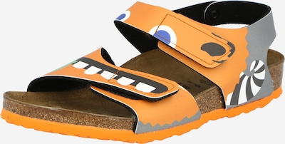 BIRKENSTOCK Sandale 'Palu' in royalblau / grau / mint / orange / weiß, Produktansicht
