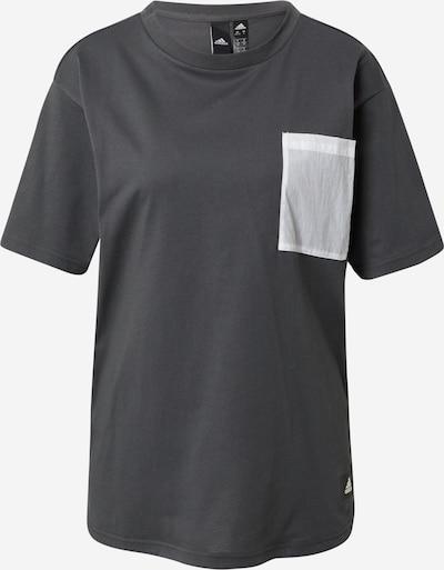 ADIDAS PERFORMANCE Toiminnallinen paita 'Summer Pack' värissä harmaa / valkoinen, Tuotenäkymä