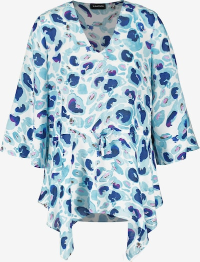 Bluză TAIFUN pe indigo / albastru deschis / mov orhidee / alb, Vizualizare produs