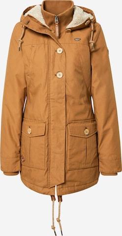 Ragwear Between-Seasons Parka 'Jane AY' in Brown