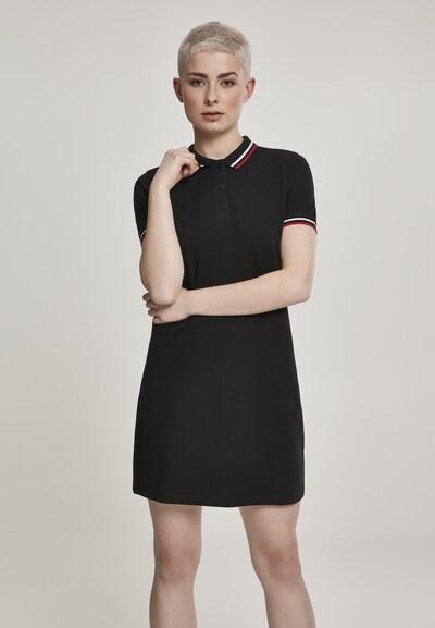 Urban Classics Kleid in rot / schwarz / weiß, Modelansicht