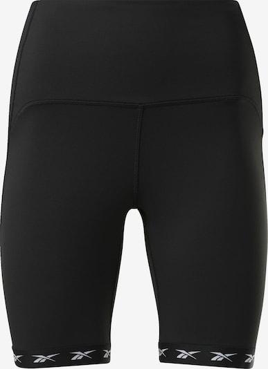 REEBOK Radlerhose in schwarz / weiß, Produktansicht