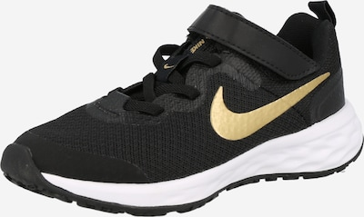 NIKE Athletic Shoes 'Revolution 6' in Gold / Black, Item view