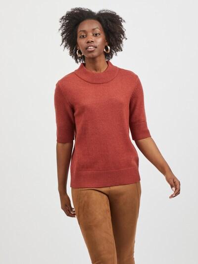 VILA Trui 'Ril' in de kleur Roestrood, Modelweergave
