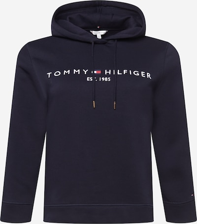 Tommy Hilfiger Curve Sweatshirt in dunkelblau / rot / weiß, Produktansicht